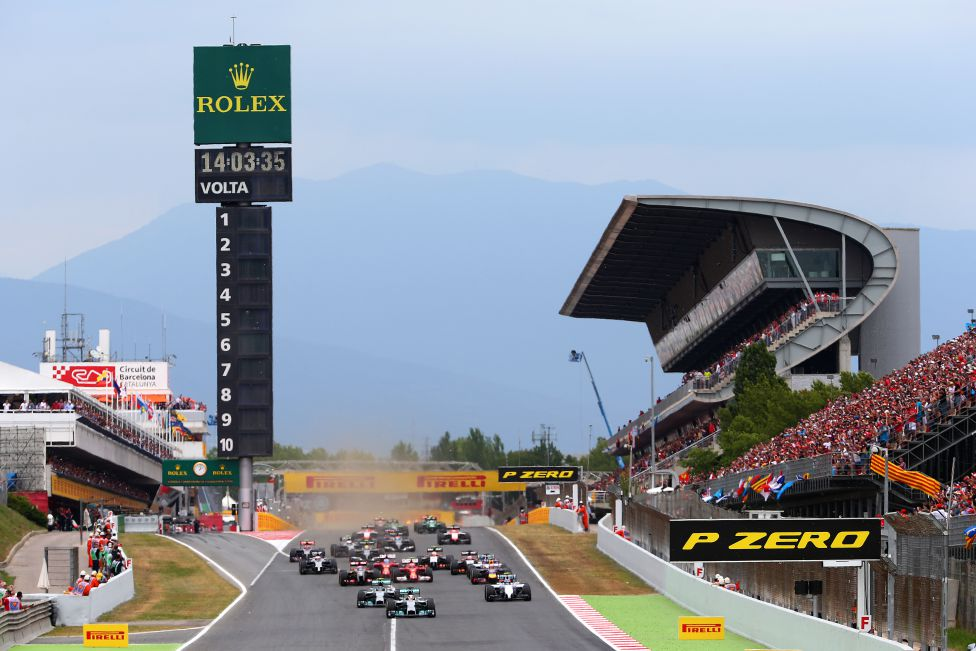 Salida del GP de Espa?a 2014.