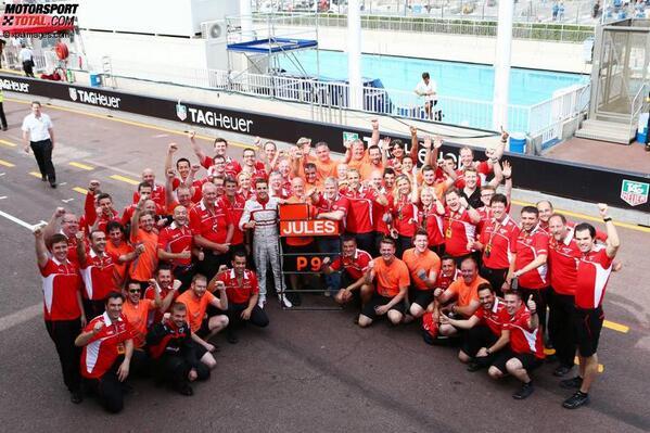 Fiesta en Marussia, tras el 9° lugar de Bianchi